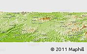 Physical Panoramic Map of Loc Binh
