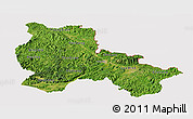 Satellite Panoramic Map of Lang Son, cropped outside