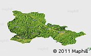 Satellite Panoramic Map of Lang Son, single color outside