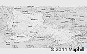 Silver Style Panoramic Map of Lang Son