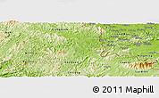 Physical Panoramic Map of Van Lang