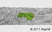 Satellite Panoramic Map of Van Lang, lighten, desaturated
