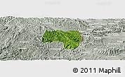 Satellite Panoramic Map of Van Lang, lighten, semi-desaturated