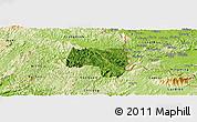 Satellite Panoramic Map of Van Lang, physical outside