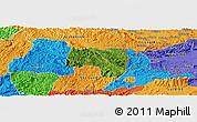 Satellite Panoramic Map of Van Lang, political outside