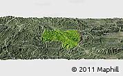 Satellite Panoramic Map of Van Lang, semi-desaturated