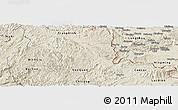 Shaded Relief Panoramic Map of Van Lang