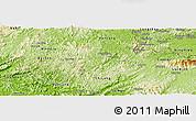 Physical Panoramic Map of Van Quan