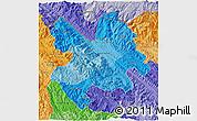 Political Shades 3D Map of Lao Cai