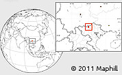 Blank Location Map of Bac Ha