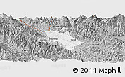 Gray Panoramic Map of Bao Thang