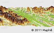 Physical Panoramic Map of Bao Thang