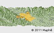 Savanna Style Panoramic Map of Bao Thang