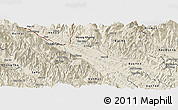 Shaded Relief Panoramic Map of Bao Thang