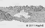 Gray Panoramic Map of Bao Yen