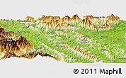 Physical Panoramic Map of Bao Yen