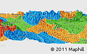 Political Panoramic Map of Bao Yen