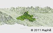 Satellite Panoramic Map of Bao Yen, lighten