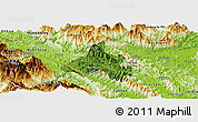 Satellite Panoramic Map of Bao Yen, physical outside
