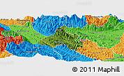 Satellite Panoramic Map of Bao Yen, political outside