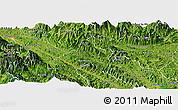 Satellite Panoramic Map of Bao Yen