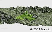 Satellite Panoramic Map of Bao Yen, semi-desaturated