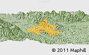 Savanna Style Panoramic Map of Bao Yen