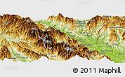 Physical Panoramic Map of Bat Xat