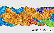 Political Panoramic Map of Bat Xat