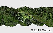 Satellite Panoramic Map of Bat Xat, darken