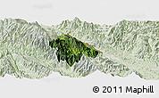 Satellite Panoramic Map of Bat Xat, lighten