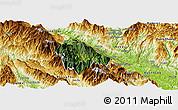 Satellite Panoramic Map of Bat Xat, physical outside