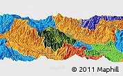 Satellite Panoramic Map of Bat Xat, political outside
