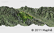 Satellite Panoramic Map of Bat Xat, semi-desaturated