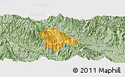 Savanna Style Panoramic Map of Bat Xat