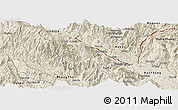 Shaded Relief Panoramic Map of Bat Xat
