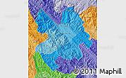 Political Shades Map of Lao Cai