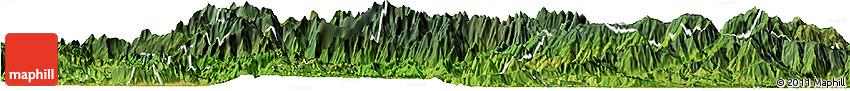 Satellite Horizon Map of Sa Pa