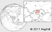 Blank Location Map of Sa Pa