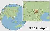 Savanna Style Location Map of Sa Pa