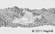 Gray Panoramic Map of Sa Pa