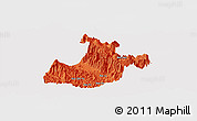 Political Panoramic Map of Sa Pa, cropped outside