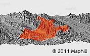 Political Panoramic Map of Sa Pa, desaturated