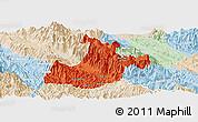 Political Panoramic Map of Sa Pa, lighten