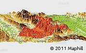 Political Panoramic Map of Sa Pa, physical outside
