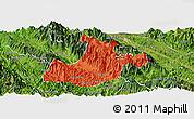 Political Panoramic Map of Sa Pa, satellite outside