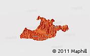 Political Panoramic Map of Sa Pa, single color outside