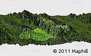 Satellite Panoramic Map of Sa Pa, darken