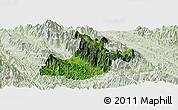Satellite Panoramic Map of Sa Pa, lighten