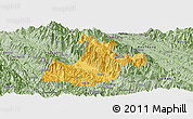 Savanna Style Panoramic Map of Sa Pa